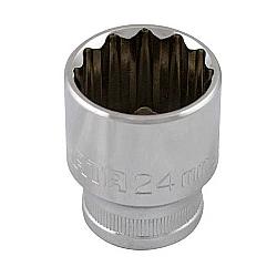 Comprar Soquete estriado aço cromo vanádio encaixe 1/2 D19 - 28mm-Gedore