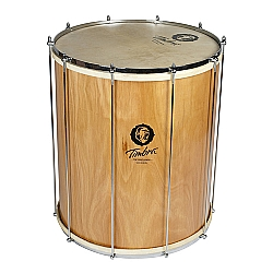 Comprar Surdo Samba 20 x 60 cm Madeira com Aro Cromado Pele Animal-Timbra