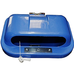 Comprar Tampa de Lixeira 50 Litros - Superior Metálico - Azul-Bralimpia