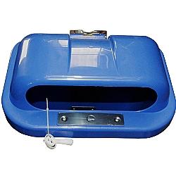 Comprar Tampa de Lixeira 50 Litros - Superior Met�lico - Azul-Bralimpia