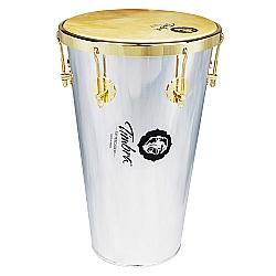 Comprar Tantan Cônico 12 X 50 Cm Alumínio com Aro Dourado Pele Animal-Timbra