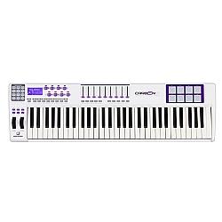 Comprar Teclado Master Controlador USB/MIDI Ultra Profissional com 61 Teclas Sensitivas Pads Faders e Encoders CARBON61-Waldman