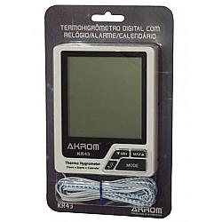 Comprar Termo-Higrômetro In/Ext Relógio Alarme Calendário KR43-Akron
