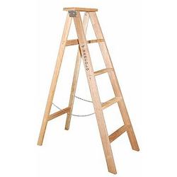 Comprar Escada de madeira 7 degraus 1,89 metros tipo tesoura simples - TSM7-W Bertolo