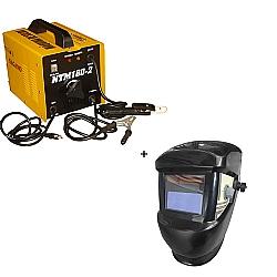 Comprar Transformador de solda 160 amperes monof�sica  - NTM 160-2 + M�scara de solda com escurecimento autom�tico-Nagano