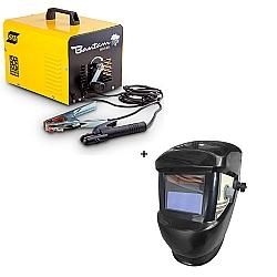 Comprar Transformador de Solda - 250 Amperes - Bivolt , 60 Hz - Bantam Brasil 250 + Máscara de solda com escurecimento automático-Esab