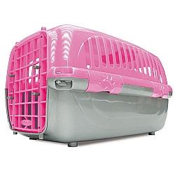 Comprar Caixa De Transporte Pl�stico Travel Pet Rosa N�mero 2 - Para c�es e gatos-Agrodog
