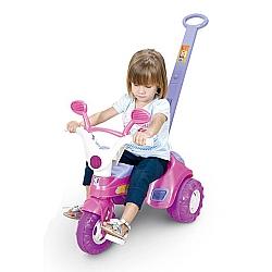 Comprar Triciclo Baby Music Rosa com Haste e Som-Cotiplás