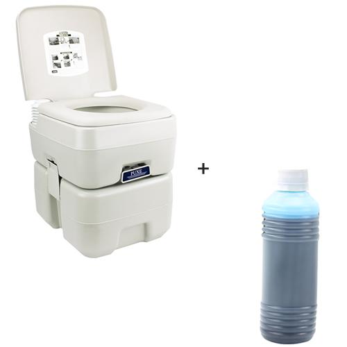 Vaso Sanitario Banheiro Quimico Portatil 20 Litros - TTP20 + Solvente para Banheiro Portatil 240ml - Tander