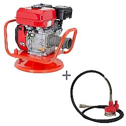 Comprar Vibrador a Gasolina para Concreto, Potência 5,5 hp, Motor GE 550 - V55-G e Bomba Submersível com Filtro, Comp. 5m, Altura max. 18m, 3600 rpm-Kawashima