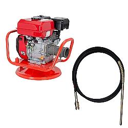 Comprar Vibrador a Gasolina para Concreto, Potência 5,5 HP, Motor ge 550 - v55-g e Mangote Vibrador, Comprimento de 6 M, amp. de Vibração 1,4m - v326m-Kawashima