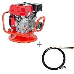 Comprar Vibrador a Gasolina para Concreto, Potência 5,5 hp, Motor GE 550 - V55-G e Mangote Vibrador, Comprimento de 6 m, Amp. de Vibração 1,6m - V386M-Kawashima