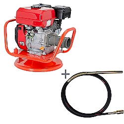 Comprar Vibrador a Gasolina para Concreto, Potência 5,5 hp, Motor GE 550 - V55-G e Mangote Vibrador, Comprimento de 6 m, Amp. de Vibração 2,0m - V456M-Kawashima