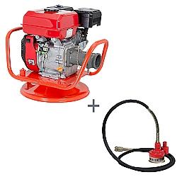 Comprar Vibrador a Gasolina para Concreto, Potência 7,0 hp, Motor GE 700 - V70-G e Bomba Submersível com Filtro, Comp. 5m, Altura max. 25m, 3600 rpm-Kawashima