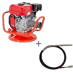 Comprar Vibrador a Gasolina para Concreto, Potência 7,0 hp, Motor GE 700 - V70-G e Mangote Vibrador, Comprimento de 6 m, Amp. de Vibração 2,0m - V456M-Kawashima