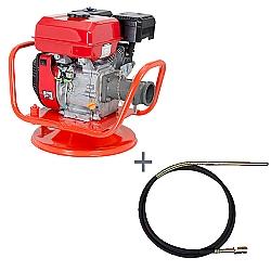 Comprar Vibrador a Gasolina para Concreto, Potência 7,0 hp, Motor GE 700 - V70-G e Mangote Vibrador, Comprimento de 6 m, Amp. de Vibração 2,4m - V606M-Kawashima