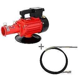 Comprar Vibrador de Concreto Elétrico, Trifásico, 2HP, 60HZ, 3400 rpm - V2T e Mangote Vibrador, Comprimento de 6 m, Amp. de Vibração 1,6m - V386M-Kawashima