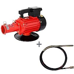 Comprar Vibrador de Concreto Elétrico, Trifásico, 2HP, 60HZ, 3400 rpm - V2T e Mangote Vibrador, Comprimento de 6 m, Amp. de Vibração 2,0m - V456M-Kawashima