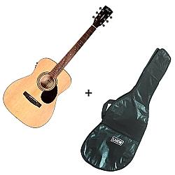 Comprar Violão Eletroacústico Formato do Corpo em Folk 20 Trastes + Capa para Violão Simples Corino-Cort