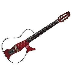 Comprar Violão Nylon Vazado Acrílico Vermelho-Marquês Musical