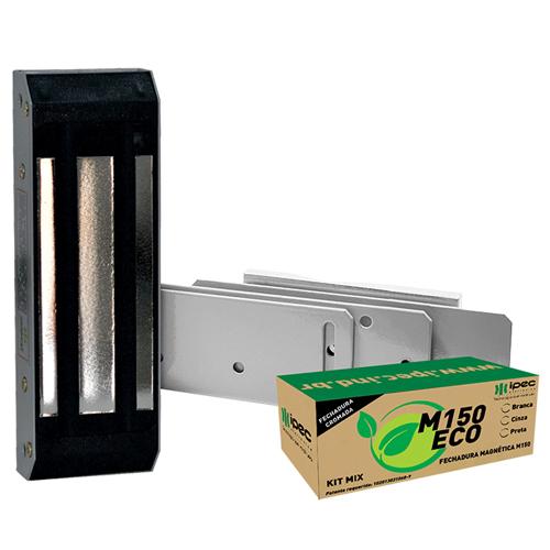 Fechadura Magnetica, Forca 150 Kgs, Cinza - M150 ECO - IPEC