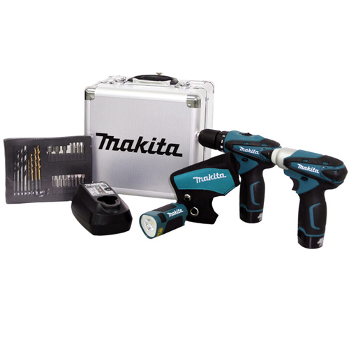 Combo de Ferramentas, Parafusadeira / Furadeira DF330D, Parafusadeira de Impacto TD090D, com Carregador, Bateria e Acessorios, Bivolt - LCT303X - Makita