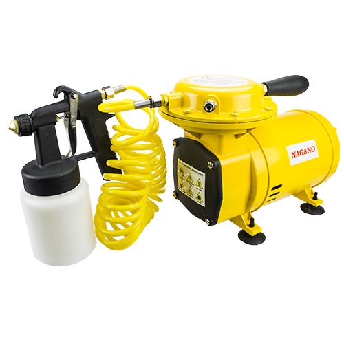 Compressor de Ar Direto 1 / 2HP 3.5BAR 50PSI 128 - 135 L / min 110 / 220 Volts ACOMPANHA KIT PINTURA PISTOLA, CANECA, BICO - Nagano