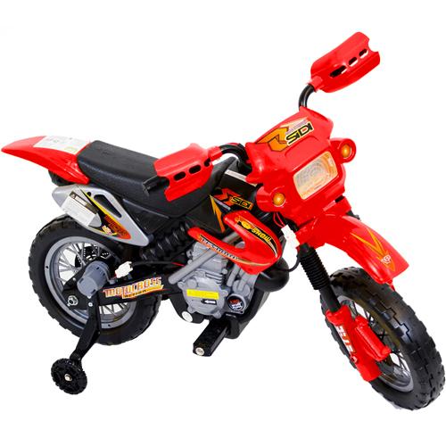 Mini Moto para Criancas, Eletrica, Cross - 6v - Vermelha - Bel Fix - Bel Fix